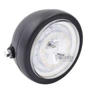 OPTIQUE-PHARE-6-1-2-LED-Pour-Honda-Yamaha-Cafe-Racer-Bobber