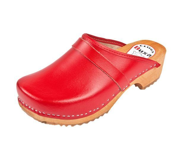 Wooden clogs   Red color  F1  Swedish style.     US shoes Size (Men's)
