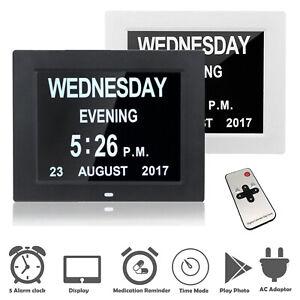 Calendrier Digital.Details Sur Digital Jour Horloge Del Calendrier Demence Alarme Heure Date Mois Annee Perte De Memoire Afficher Le Titre D Origine