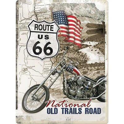 US ROUTE 66 * USA CHOPPER * EASY RIDER * MOTORRAD * BLECHSCHILD * 30X40 * NEU!