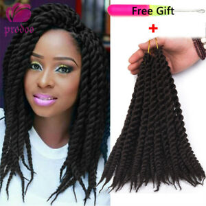 "12"" Jumbo Braids Crochet Senegalese Twist Braid Hair Synthetic Hair Extensions"