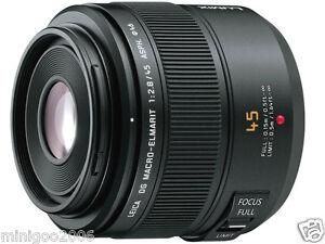 (nouveau Autres) Panasonic Leica Dg Macro-elmarit 45 Mm F2.8 Asph Mega H-es 045 * Offre-afficher Le Titre D'origine MatéRiaux De Choix