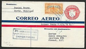 Panama covers 1929 1st Flight cover CHIRIQUI-PANAMA