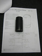 Nikon Ultra-Micro-Nikkor f=28mm 1:1.7 No.322449  Rare w/ Documentation