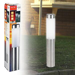 Energie-solaire-acier-inoxydable-led-lampe-de-jardin-poste-allee-eclairage-nouveau