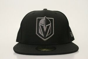 Las Vegas Golden Knights Size 7 New Era 59FIFTY Dark Gray Fitted Hat ... ce4928433d90