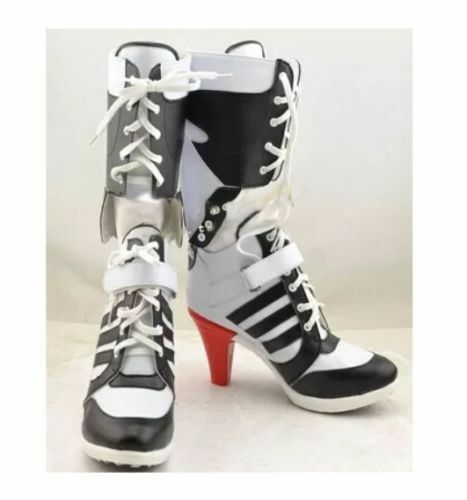 Batman DC Comics Suicide Squad Harley Quinn Cosplay PU Boots High Heels Costume