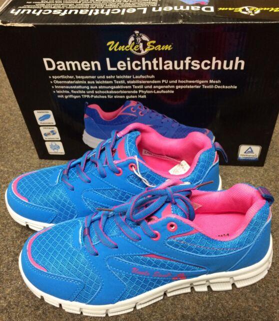 Details zu Uncle Sam Damen Laufschuhe Gr. 39,Schuhe Sportschuhe Sneaker Turnschuhe bl