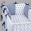PILLOW-BUMPER-made-form-6-cushions-for-cot-bed-GREY-PINK-BLUE-NAVY-STARS thumbnail 30