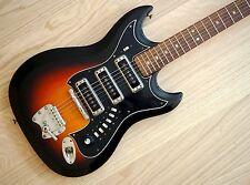 1960's Hagstrom III F-300 Vintage Electric Guitar Futurama Sweden Sunburst, ohc