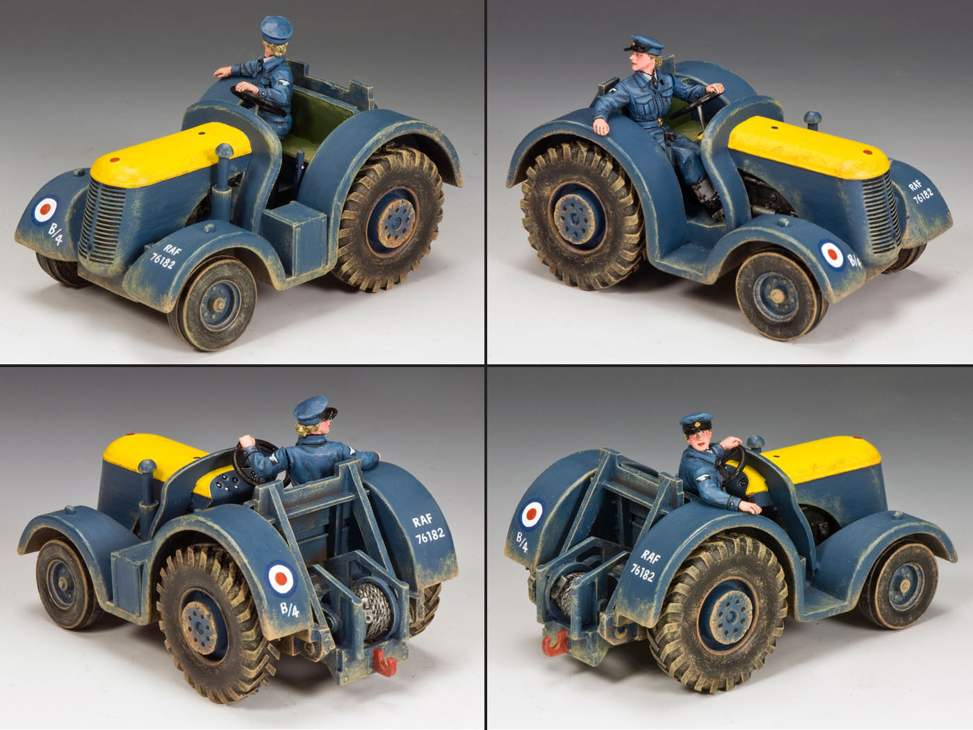 KING & COUNTRY ROYAL AIR FORCE RAF045 R.A.F. AIRFIELD TRACTOR MIB