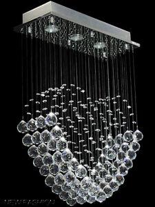 Details zu Moderne Herz Shape Deckenleuchte Regen Tropfen Klar Kristall  lampe Kronleuchter