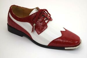 Men/'s Dress Shoes Plain Toe Oxford Shiny Gray Satin Lace Up 6716 EXPRESSIONS