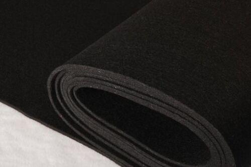 EUR 7,48//m FILZ Bastelfilz Filzplatte Textilfilz 3-4mm dick SCHWARZ