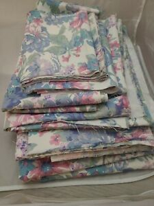 Huge-Lot-of-18-Yards-Remnants-Peter-Pan-Fabrics-Floral-Print-Heavy-Cotton