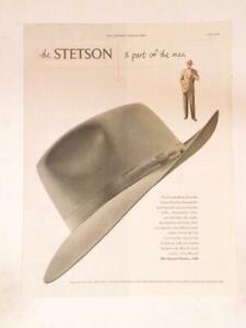 Magazine Ad* - 1950 - Stetson Men's Hats - The Playboy