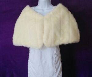 Scarves & Wraps Coats, Jackets & Vests F10053 Real Fur Brown Pastel Mink Formal Wedding Womens S Shawl Stole Cape Coat