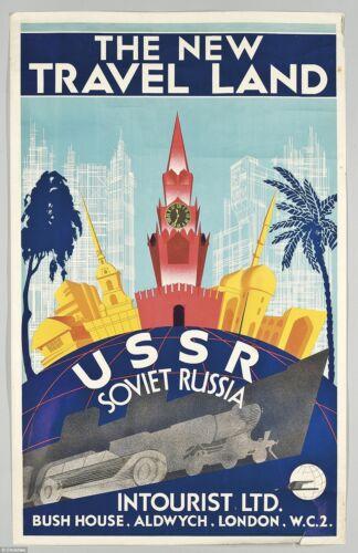 USSR SOVIET RUSSIA A3 SIZE Vintage Retro Travel /& Railways Poster Print #3