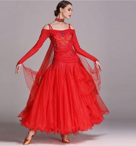 Ballroom Competition Dance Dress Modern Waltz Tango Fox Trot Standard Dress NEW