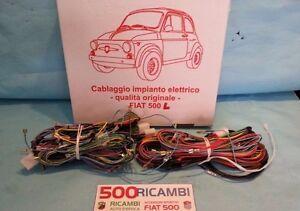 FIAT-500-F-1968-1972-CABLAGGIO-COMPLETO-IMPIANTO-ELETTRICO-ELETTRICI-QUALITA-ASI