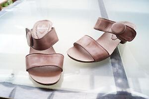 MADELEINE-Damen-Sommer-Schuhe-Sandalen-Clogs-Klett-Absatz-Gr-39-Leder-beige-2k