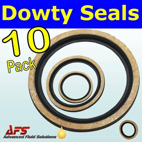 "10 x 5//8/"" BSP Bonded Dowty Seal Self Centering Hydraulic Oil Seal Washer Ring"