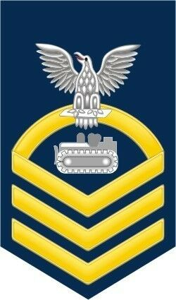 "Decal Equipment Operator EO Navy Chief E-7 Gold 5.5/"" Rank Sticker"