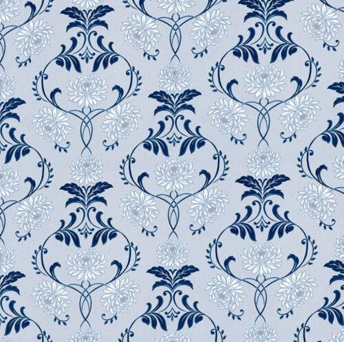 Casa De Muñecas Wallpaper 1//12th 1//24th Escala Azul De Papel De Calidad # 44