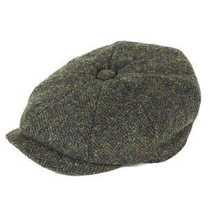 Green Mix Schnelle Farbe LiebenswüRdig Failsworth Hats Carloway Harris Tweed Bakerboy Cap Hüte & Mützen