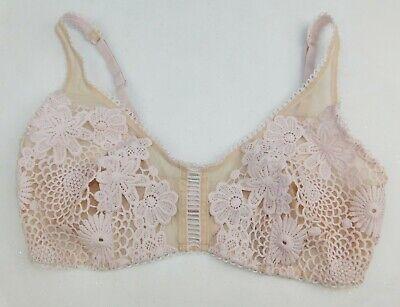 Victoria/'s Secret Size Small 8 Black Velvet Lace Bralette S Dream Angels