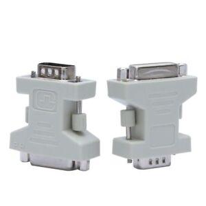 Blanc-DVI-D-femelle-24-1-vers-VGA-male-15-pin-connecteur-pour-PC