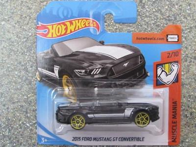 Hot Wheels 2015 Ford Mustang GT Convertible Muscle Mania 2//10 1:64 291//365 2018