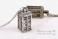 Collier Pendentif Doctor Who Police Box Argenté
