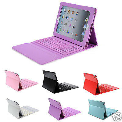Bluetooth Wireless Pu Leather Keyboard for Apple iPad 4 3 2