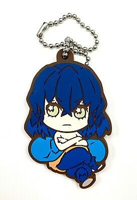 Demon Slayer Anime Bandage Style Rubber Keychain Charm Obanai Iguro @71166