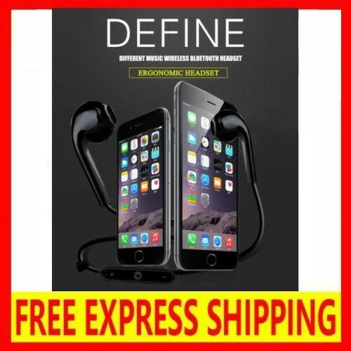 Wireless Bluetooth 4.1 Headset Earphone Sport Headphone Mic for iPhone + Samsung
