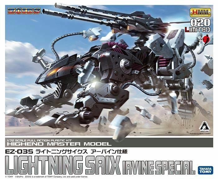 Kotobukiya  Zoids Hmm 020 Ez-035 Fulmini Saix Irvine specialeee 1 72 Kit modellolo  autentico online