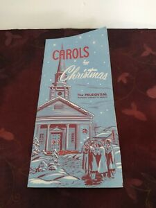 Vintage Carols For Christmas Prudential Insurance Co Brochure Song Book