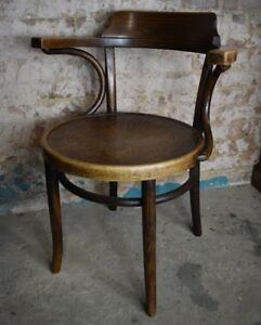 Image Is Loading Antique 202 Thonet Bentwood Chair ArmChair Polish Cafe