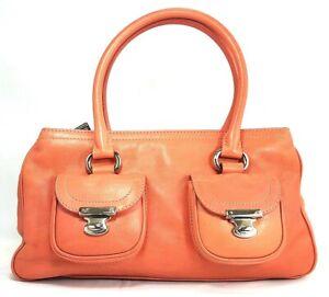 Vintage-Marc-Jacobs-Pink-Handbag-Leather-Satchel-Shoulder-Purse-Made-In-Italy