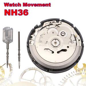 NH35-NH36-alta-precisione-automatico-meccanico-orologio-da-polso-movimento-Day-Date-Set