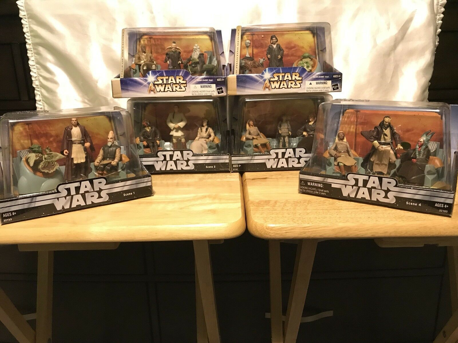 Star Wars Action Figures Jedi High Council Scene 1-4 & Scene 1-2 Complete Set