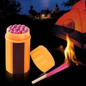 2-Box-Outdoor-Windproof-Waterproof-Matches-Kit-Orange-Case-40-Matches-Uiz-EsIkP