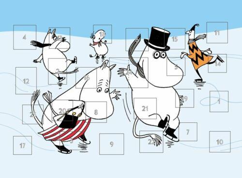 MOOMIN A4 Advent calendar ICE SKATING