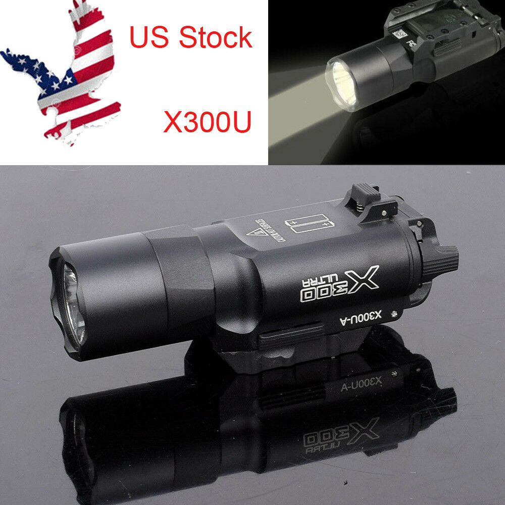 US X300U LED Flashlight Bright LED Flashlight 20mm Picatinny Rail For Rifle Gun