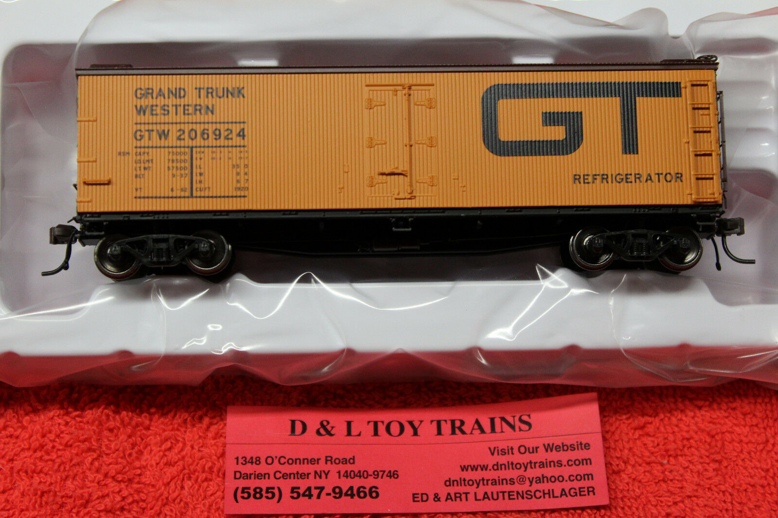 20003807 Grand Trunk Western 40' Wood Side Reefer Car Brand New In Box