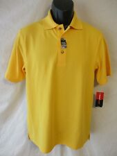Grand Slam Short Slve Polyester Size S SS Solid Banana Yellow Polo SR$45 NEW