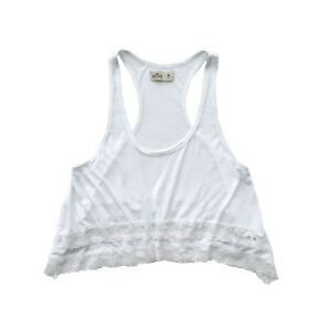 1ffa5cf93e NEW HOLLISTER WOMENS LACE CAMI LOOSE FIT TANK TOP CROPPED T SHIRT ...