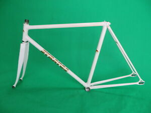 Stratos-White-NJS-Keirin-Frame-Track-Bike-Fixed-Gear-Columbus-Max-Fork-52cm