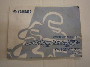 yamaha yp125 majesty owners manual genuine yamaha handbook ebay rh ebay co uk yamaha majesty 250 service manual yamaha majesty 125 service manual